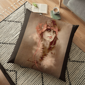 'Her Eyes' Pillow by Sara Moon