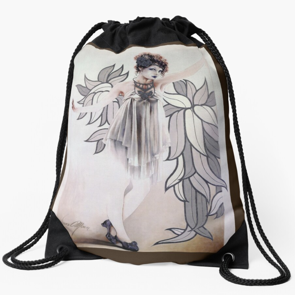 'Josephine' Draw-String Bag by Sara Moon