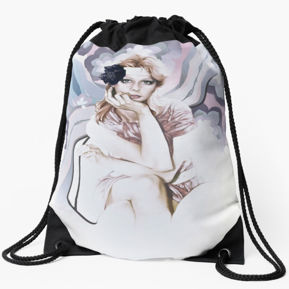 Angel Draw-String Bag by Sara Moon