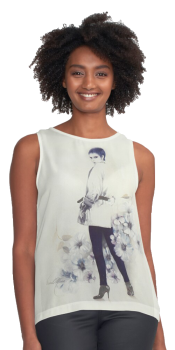 'Girl in Blue' T-Shirt by Sara Moon