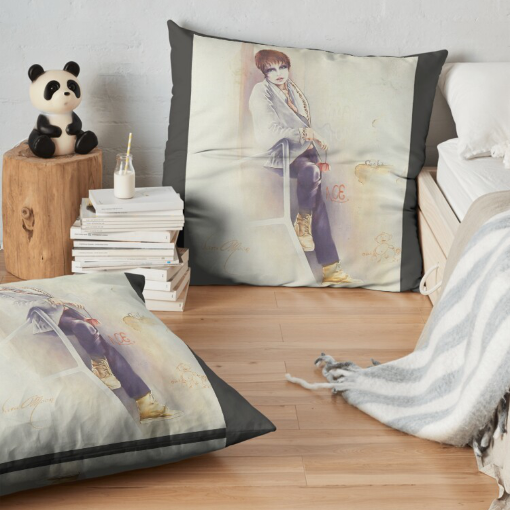 'Girl Next Door' Pillow by Sara Moon