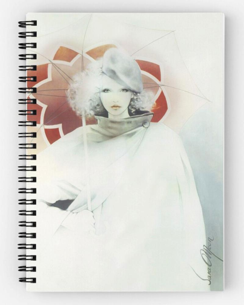 beauty In The Rain Notepad by Sara Moon