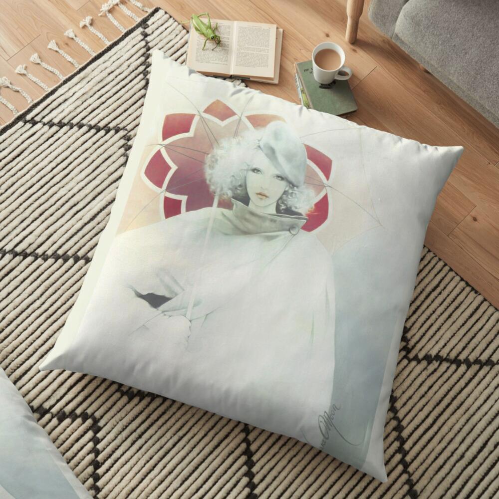 beauty In The Rain Pillow by Sara Moon