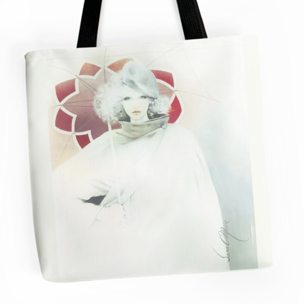 beauty In The Rain Tote Bag by Sara Moon