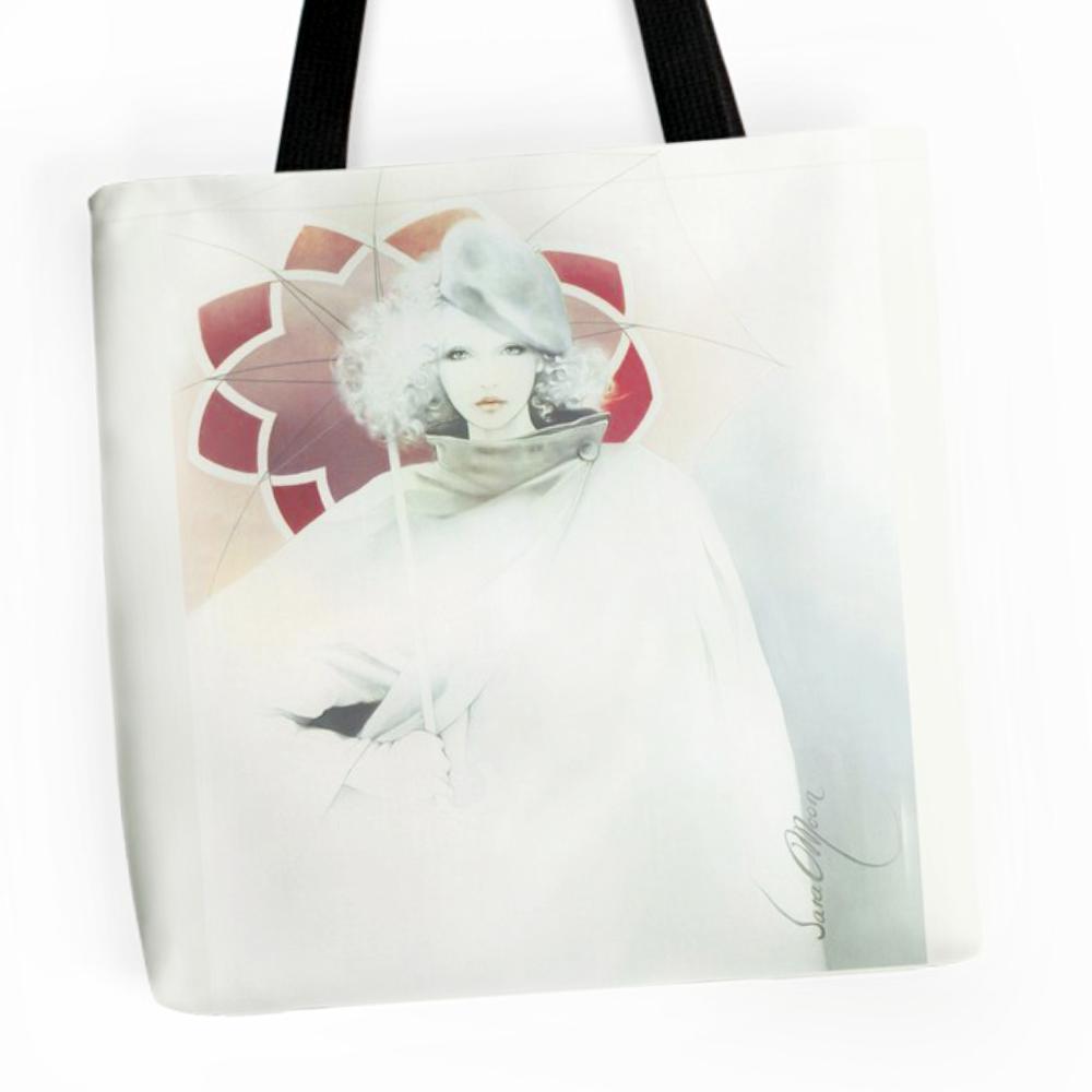 beauty In The Rain Tote Bag by Sara Moon