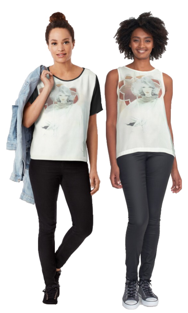 beauty In The Rain T-Shirts by Sara Moon