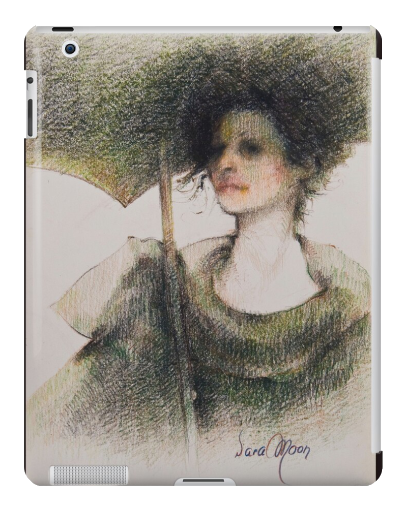 Black Parasol Tablet Case by Sara Moon