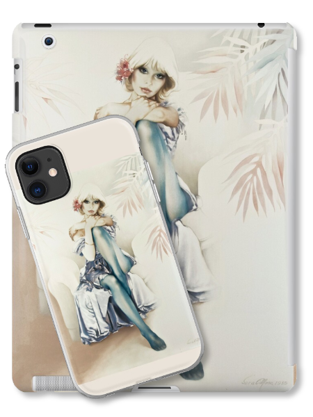 'Blue Ice' Tablet & Phone Skins by Sara Moon