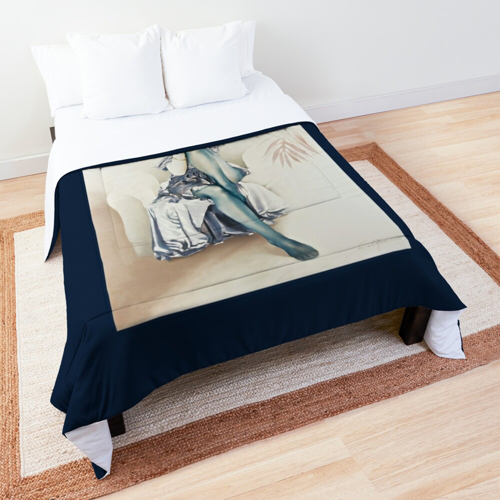 'Blue Ice' Comforter by Sara Moon