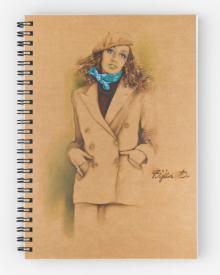 French Beret Notepad Signed 'Bijan D'