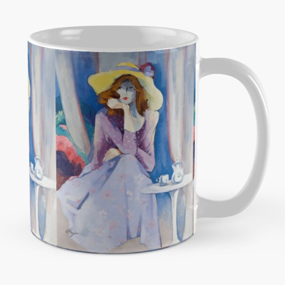 Jaqueline's Hat Mug by Sara Moon