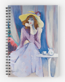Jaqueline's Hat Notepad  by Sara Moon