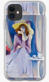 Jaqueline's Hat Phone Case by Sara Moon
