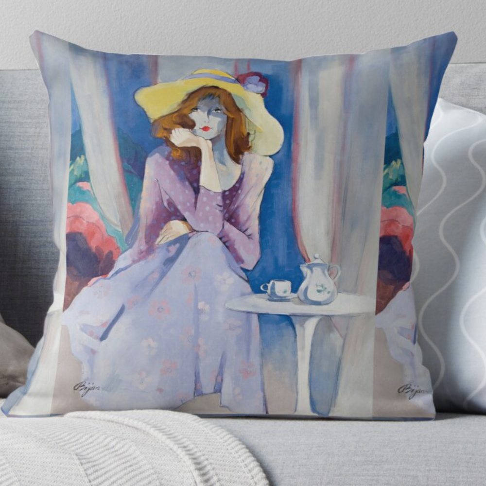 Jaqueline's Hat Pillow by Sara Moon