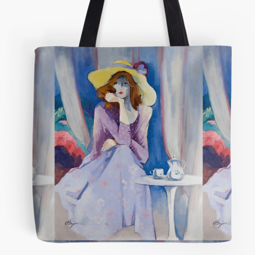 Jaqueline's Hat Tote  by Sara Moon