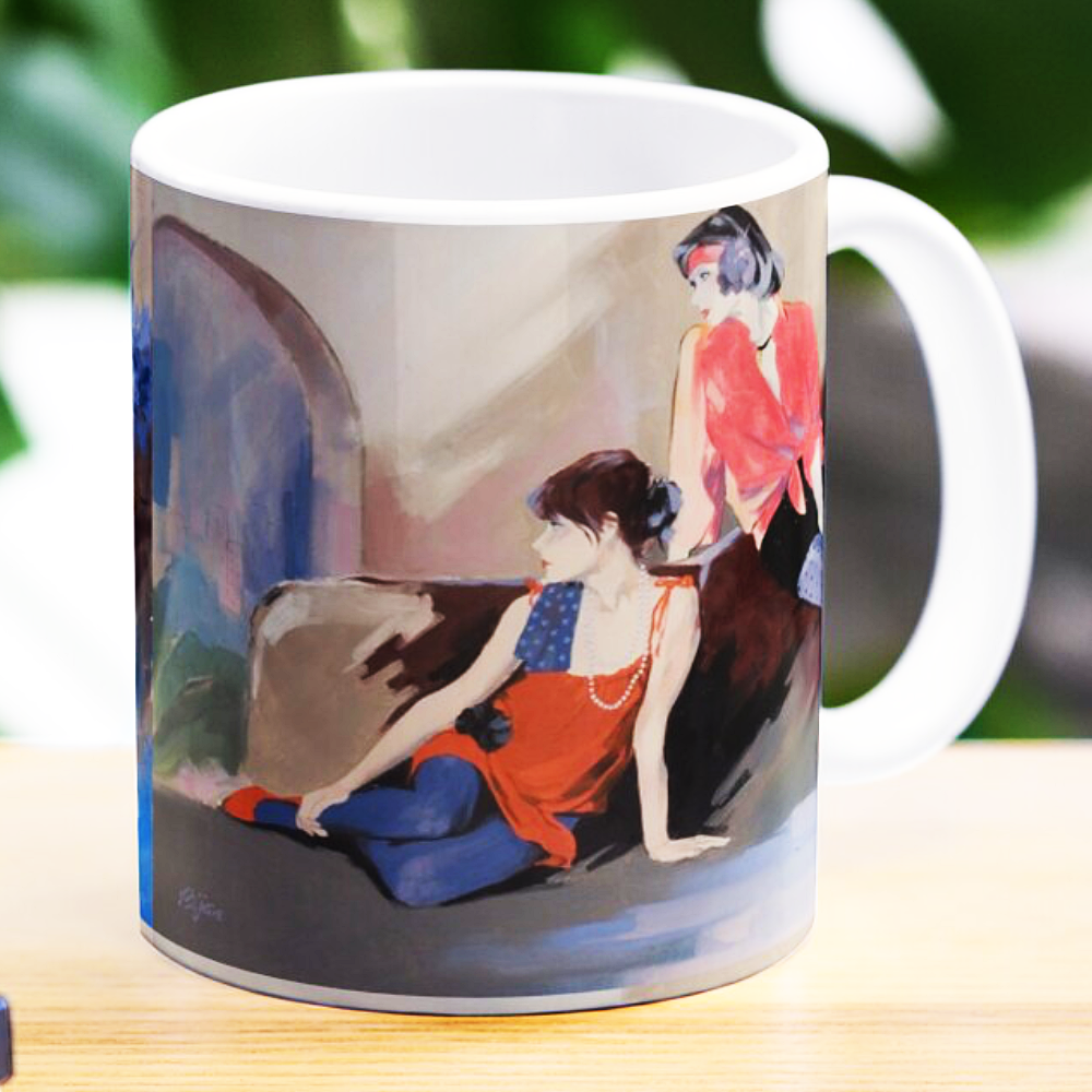 Looking Into The Garden (Mug) by Sara Moon