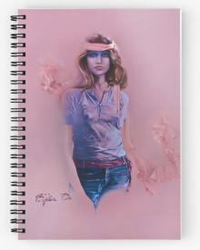 Blue Eyes Notepad by Sara Moon