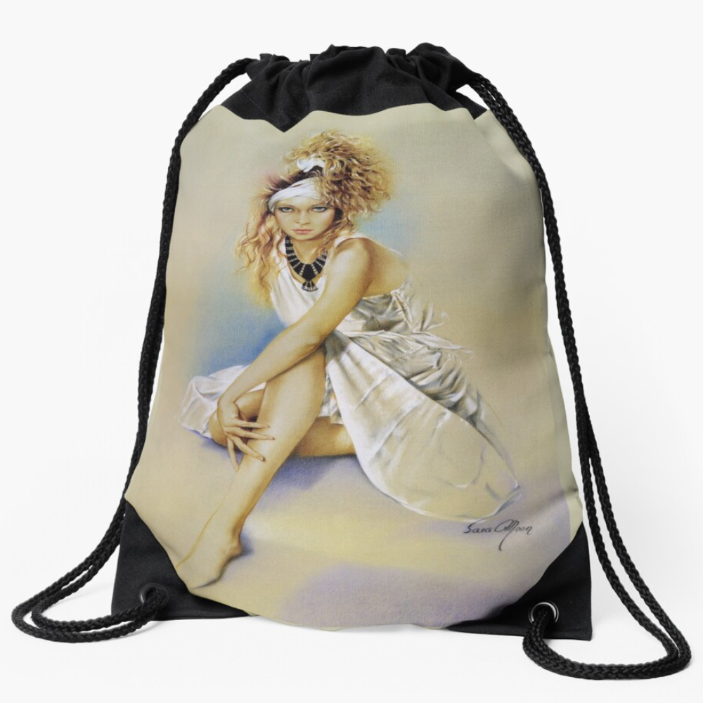 'Silvia' Draw-String Bag by Sara Moon