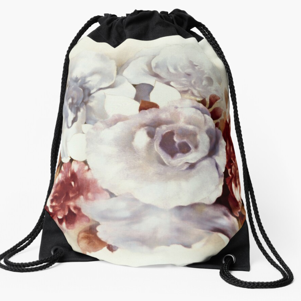 'Bouquet ll' Draw-string Bag by Sara Moon