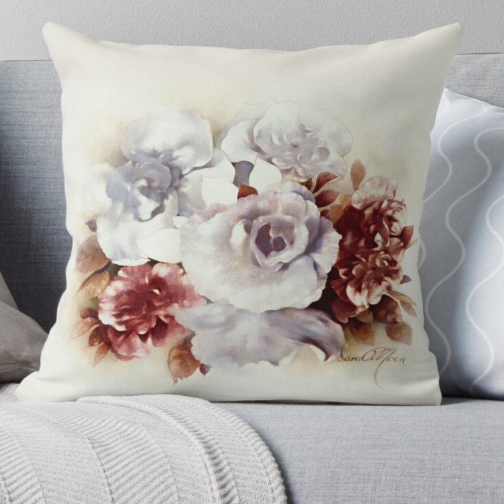 'Bouquet ll' Pillow by Sara Moon