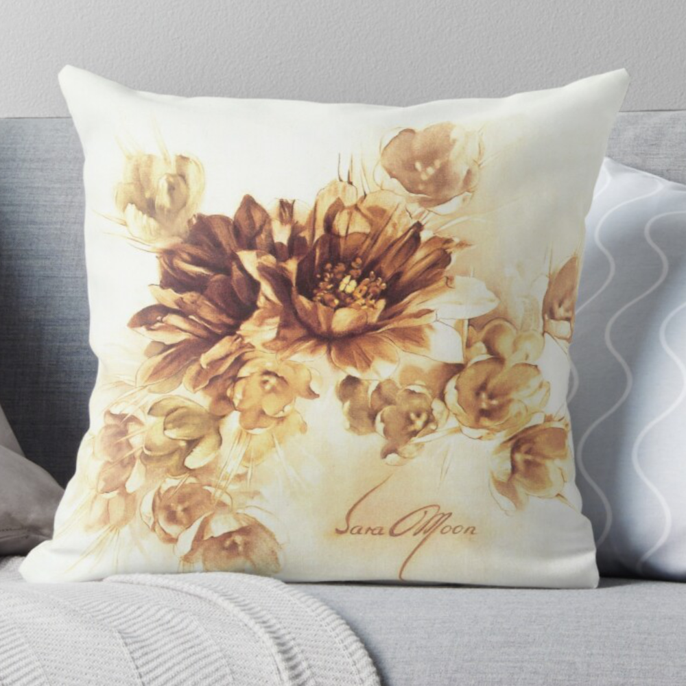 'Bouquet lll' Pillow by Sara Moon