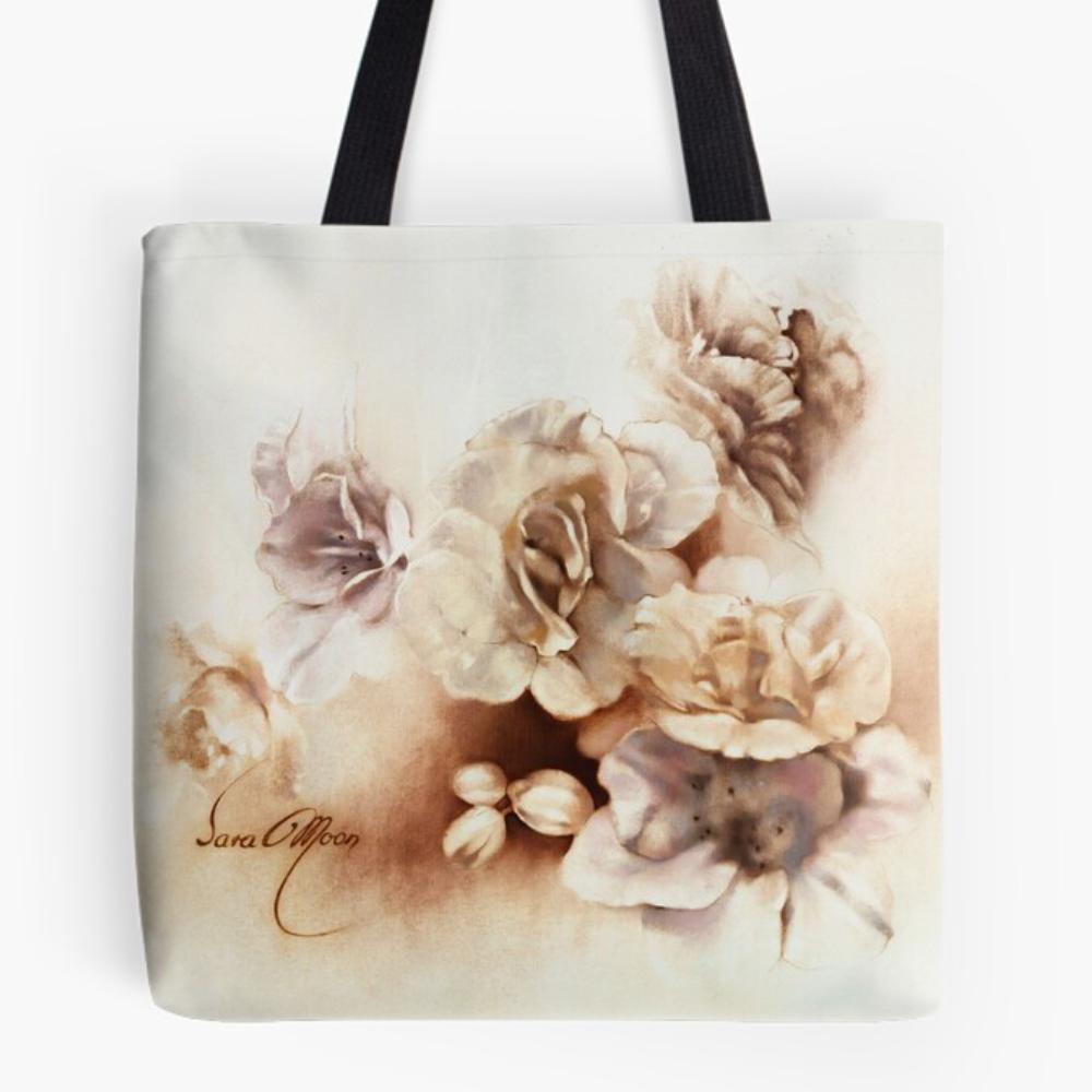 'Bouquet lV' Draw-string Bag by Sara Moon