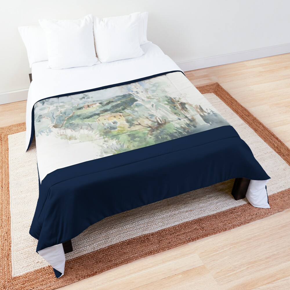 'Out Walking' Comforter by Bijan D.