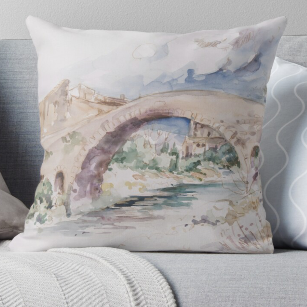 Looking Into The Garden (Pillow) by Sara Moon