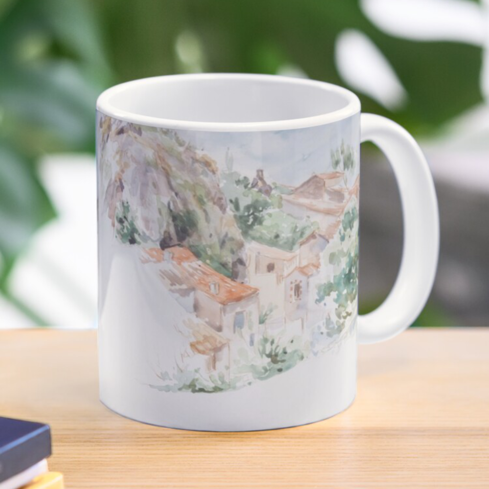 'A Country Village' Mug Bag by Sara Moon Art