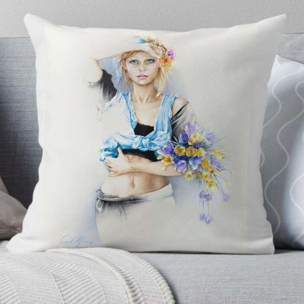 'Hippy Days' Pillows by Sara Moon