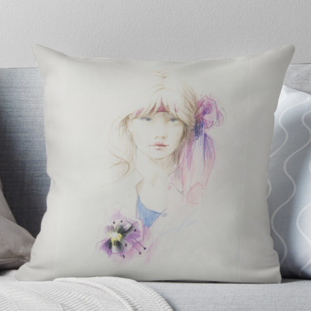 'Hibiscus' Pillow by Sara Moon