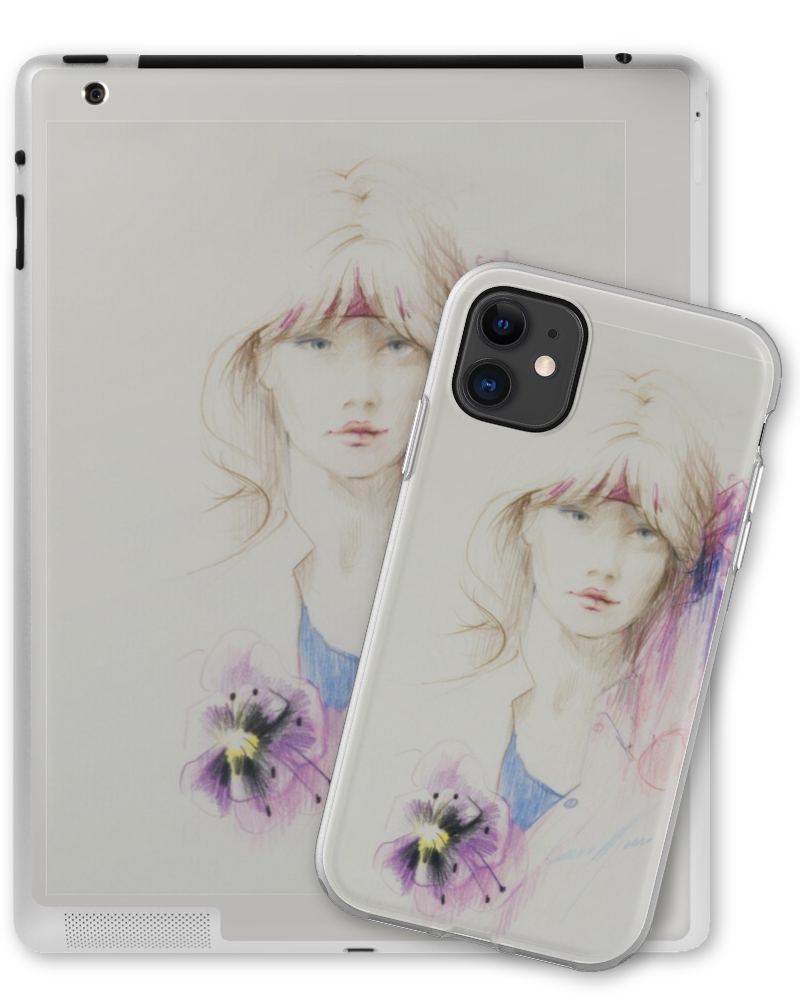 Hibiscus Phone & Tablet Skins by Sara Moon