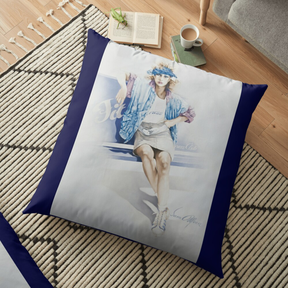 'Fitness' Pillow by Sara Moon