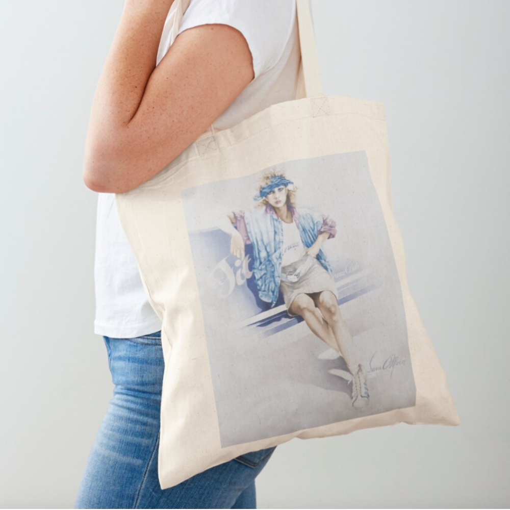 'Fitness' Tote Bag by Sara Moon