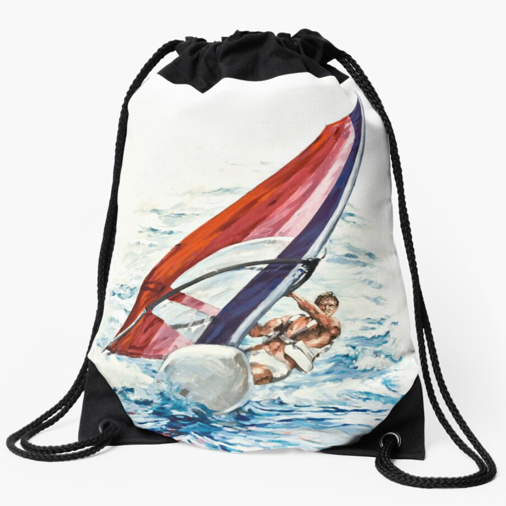 'Riding The Waves' Draw-String Bag by Bijan D.