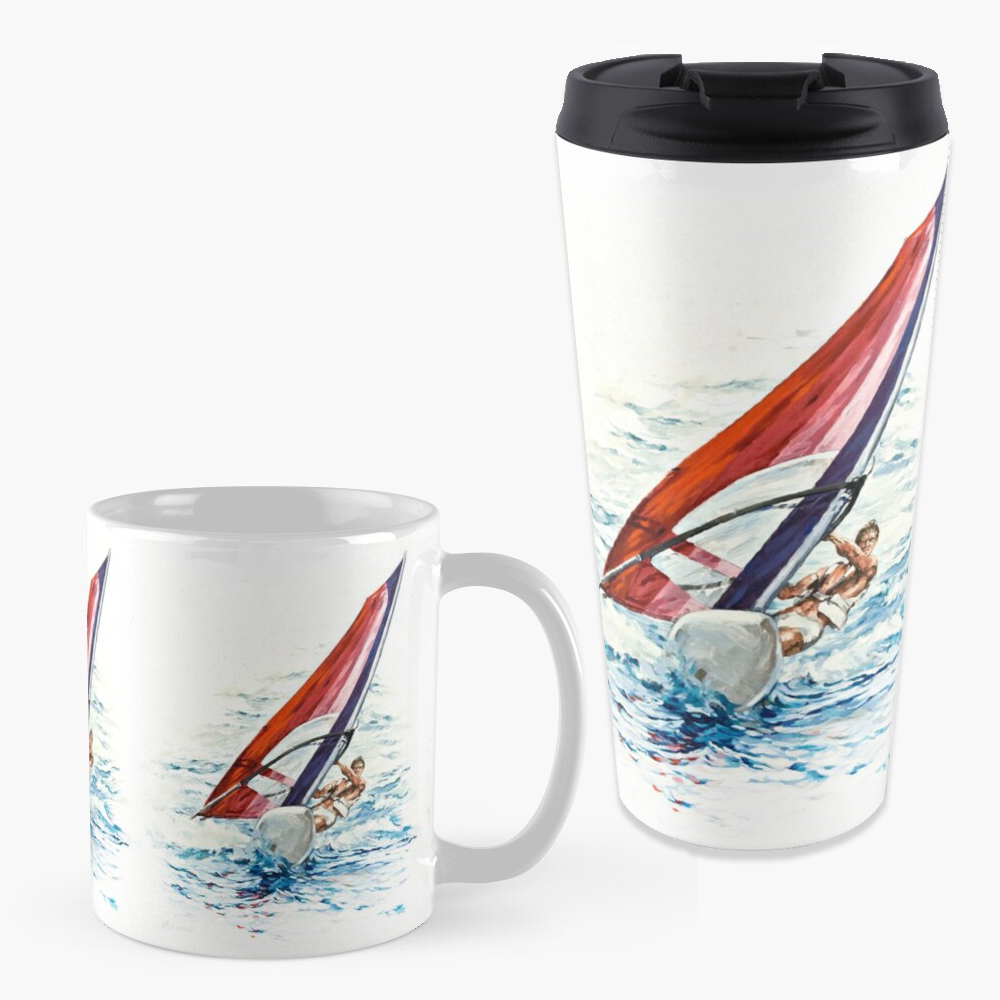 'Riding The Waves' Mugs by Bijan D.