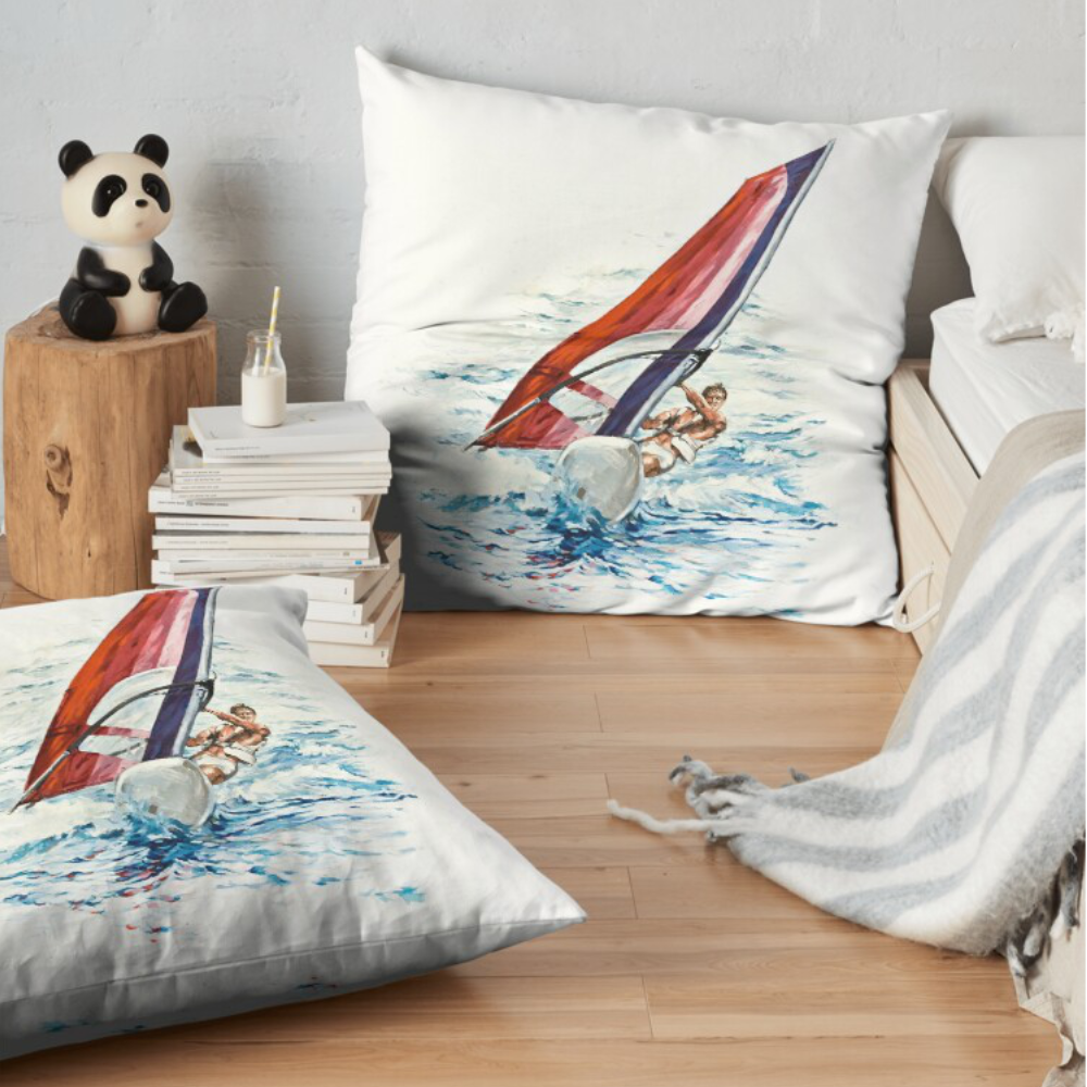 'Riding The Waves' Pillows by Bijan D.