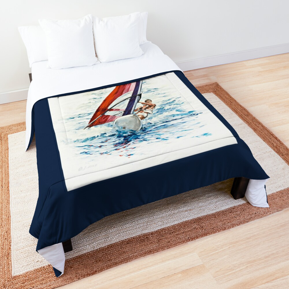 'Riding The Waves' throw by Bijan D.