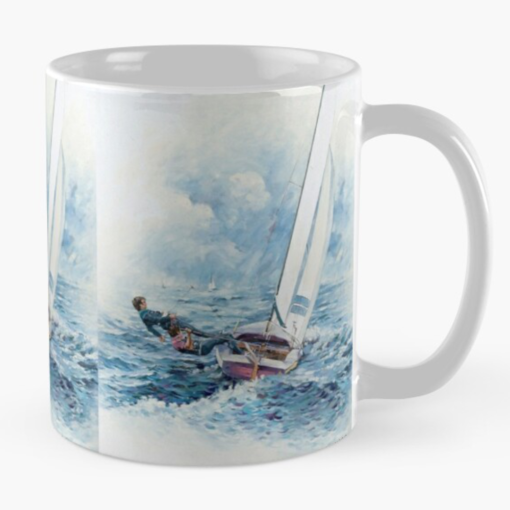 'Rounding The Boy' Mug, signed Bjan D.