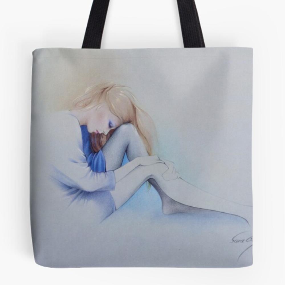 'Sara Blue' Tote Bag by Sara Moon