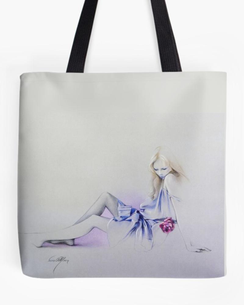 Sara's Rose Tote Bag by Sara Moon