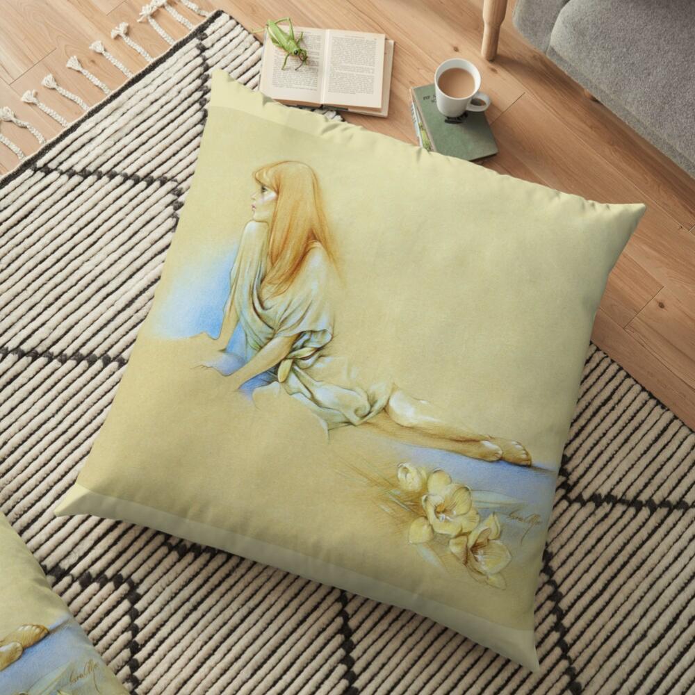 'Waiting' Pillow by Sara Moon