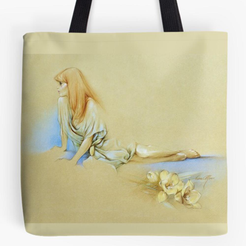 'Waiting' Tote Bag by Sara Moon