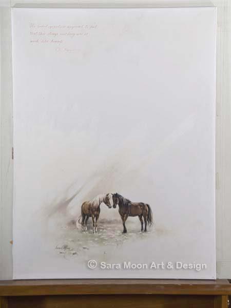 Horses Meeting ORIGINAL by Sara Moon