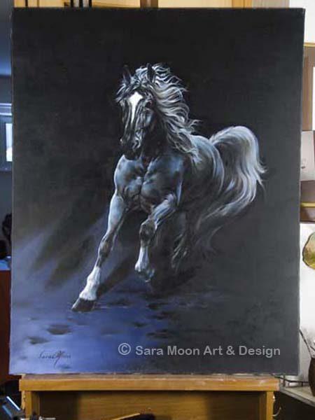 White Stallion Original by Sara Moon