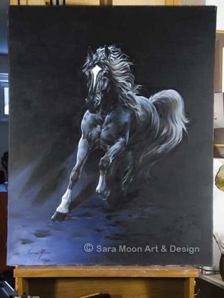White Stallion Original by Sara Moon