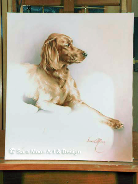 Original Red Setter by Sara Moon