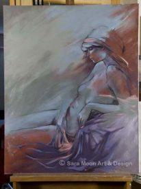 Original 'Reclining Nude' For Sale