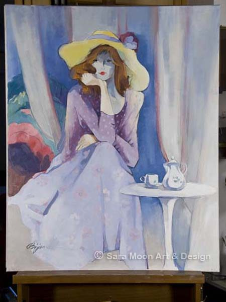 Original 'Jaqueline's Hat' by Sara Moon