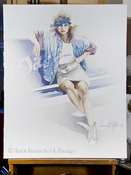 ORIGINAL 'Fitness' by Sara Moon